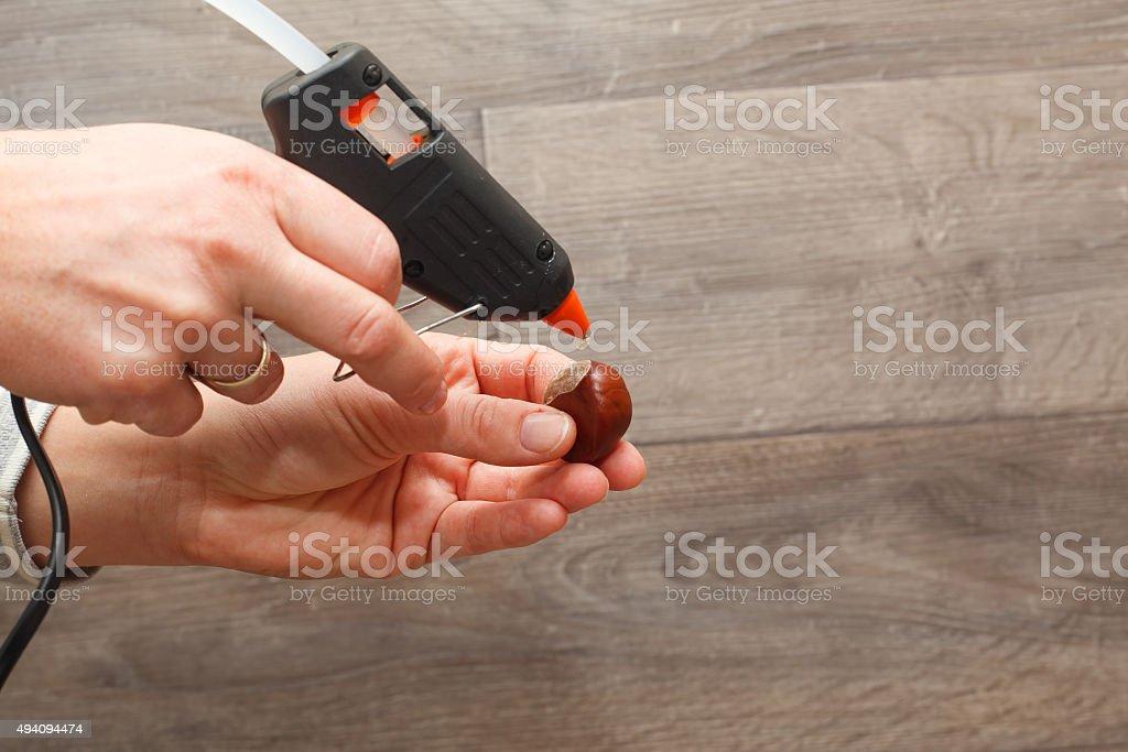 Hot melt gun. stock photo