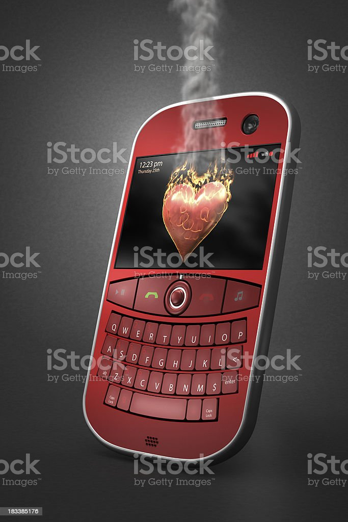Hot message royalty-free stock photo