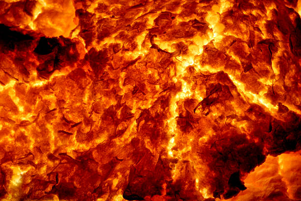 Hot Molten Lava 5 The cracking crust of a hot flow of magma. lava stock pictures, royalty-free photos & images