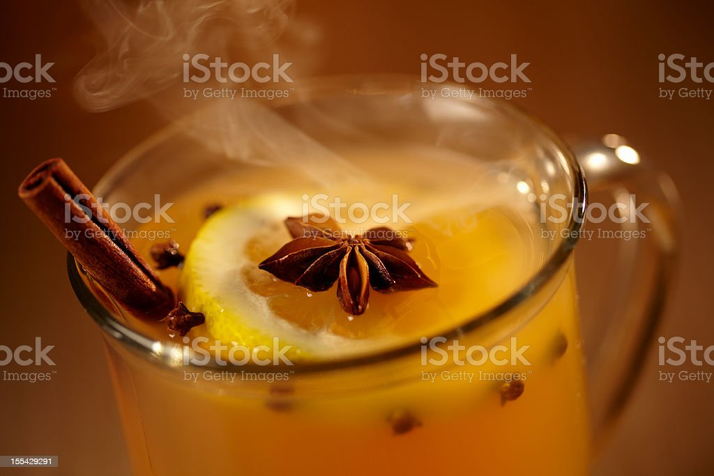 Hot Mulled Cider stock photo