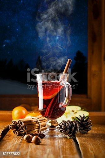 istock Hot mulled wine 627777822