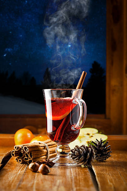 hot mulled wine - mulled wine stock photos and pictures