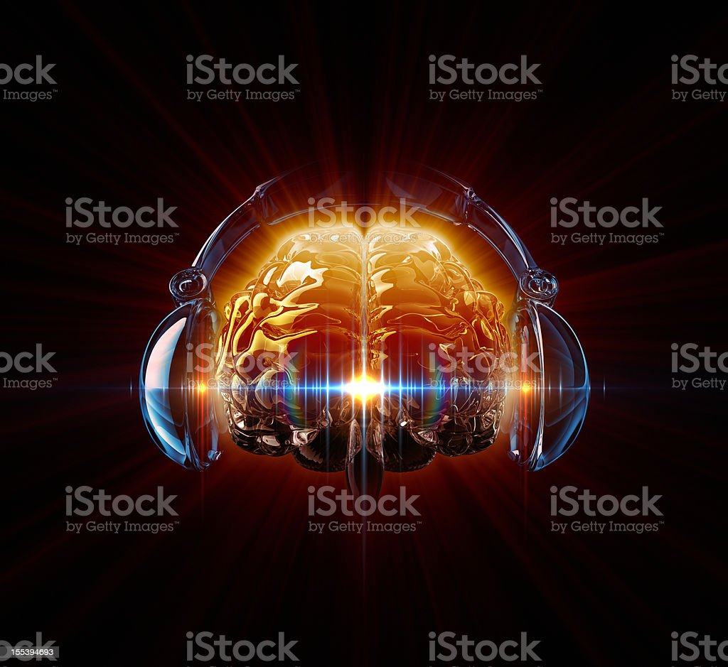 Hot Music In The Mind stock photo