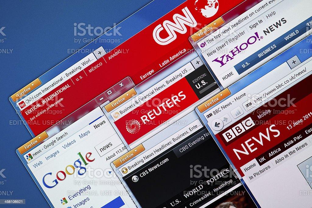 Hot News Web Sites royalty-free stock photo
