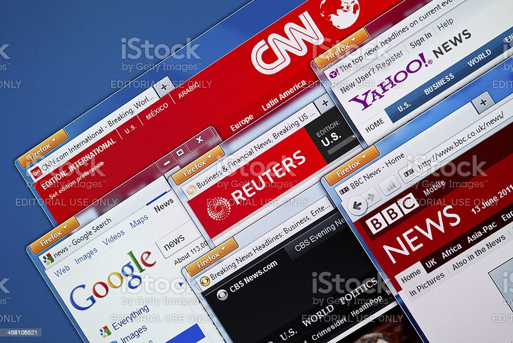 Hot News Web Sites stock photo
