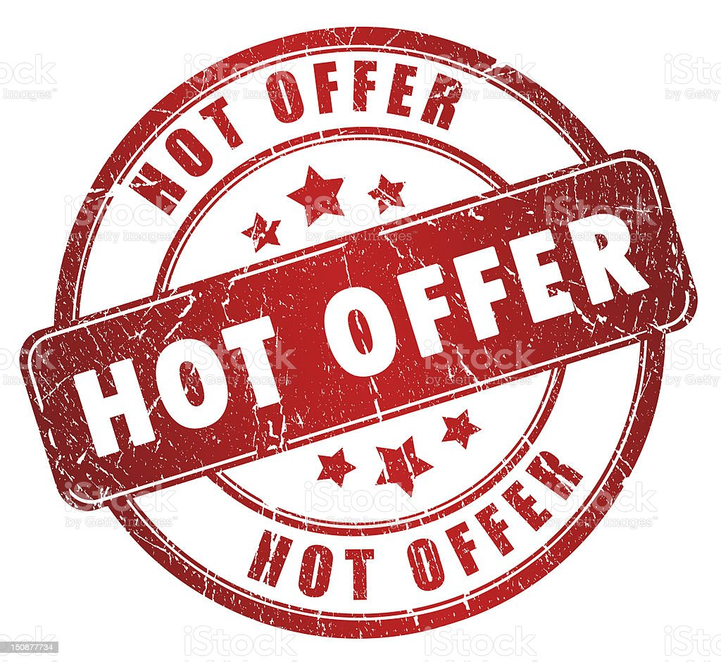 Hot offer stamp royalty-free stock photo