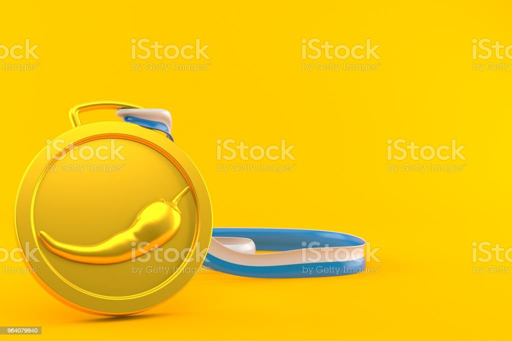 Hot paprika medal - Royalty-free Achievement Stock Photo