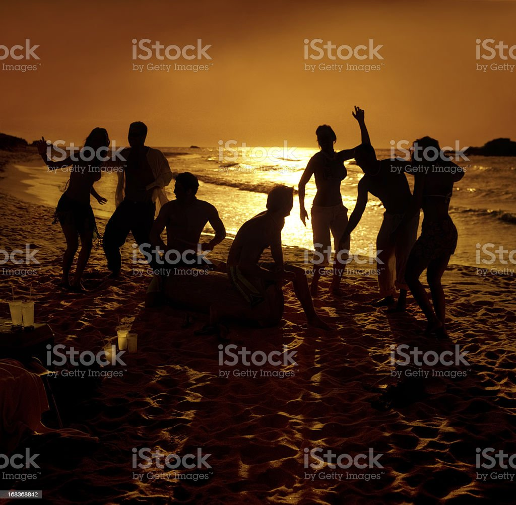 hot party on the beach royalty-free stock photo