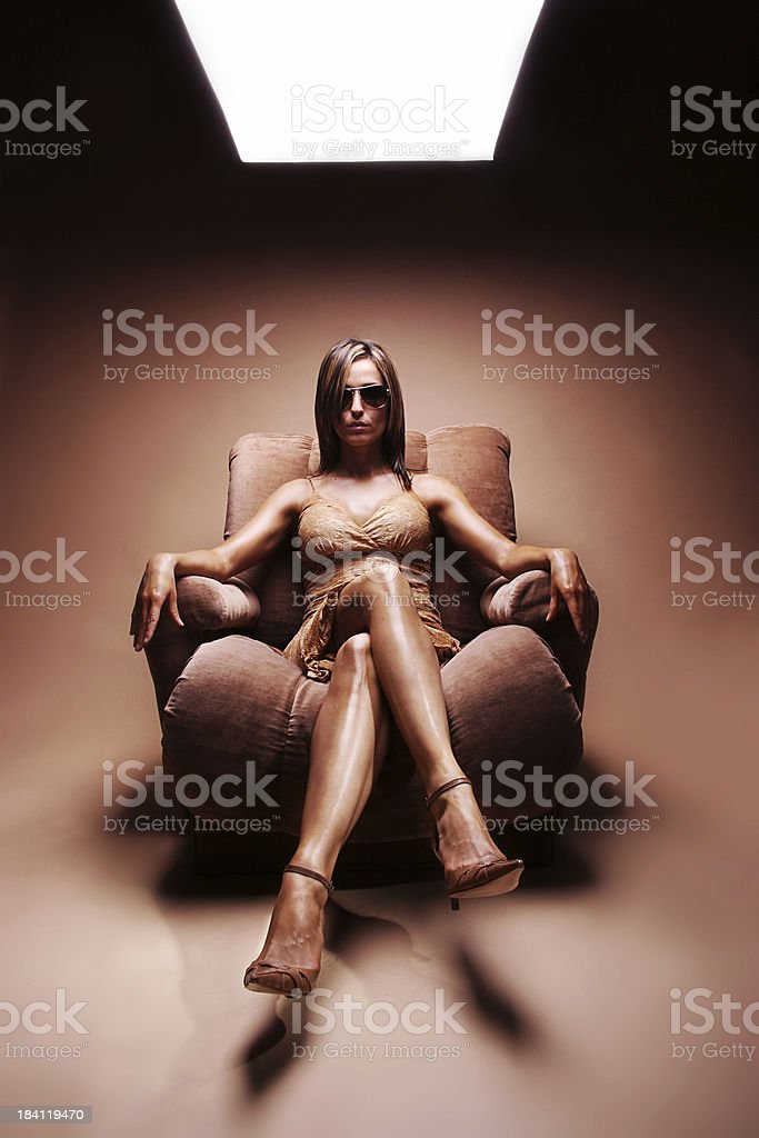 hot patience under light royalty-free stock photo