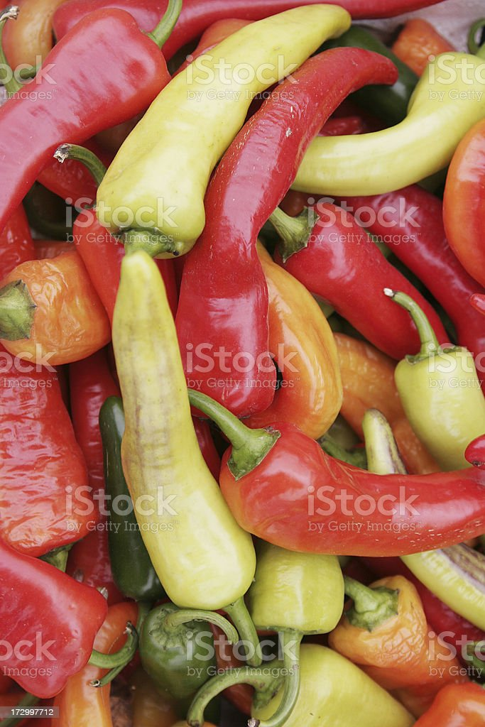 Hot Peppers Background royalty-free stock photo