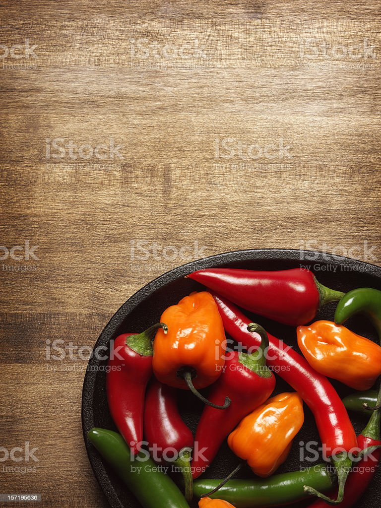 Hot Peppers royalty-free stock photo