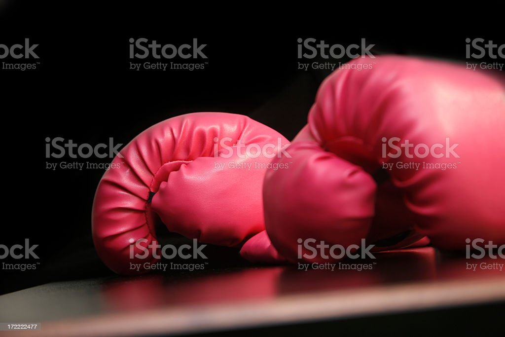 hot pink boxing gloves royalty-free stock photo