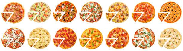 heiße pizza-lieferkonzept - 25 cent stück stock-fotos und bilder