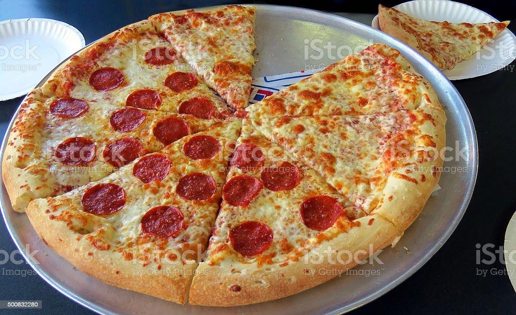 hot pizza stock photo