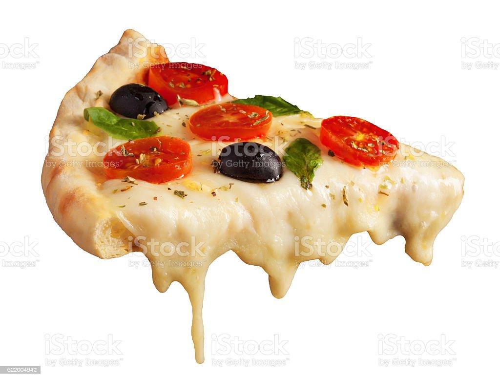 Hot pizza slice stock photo