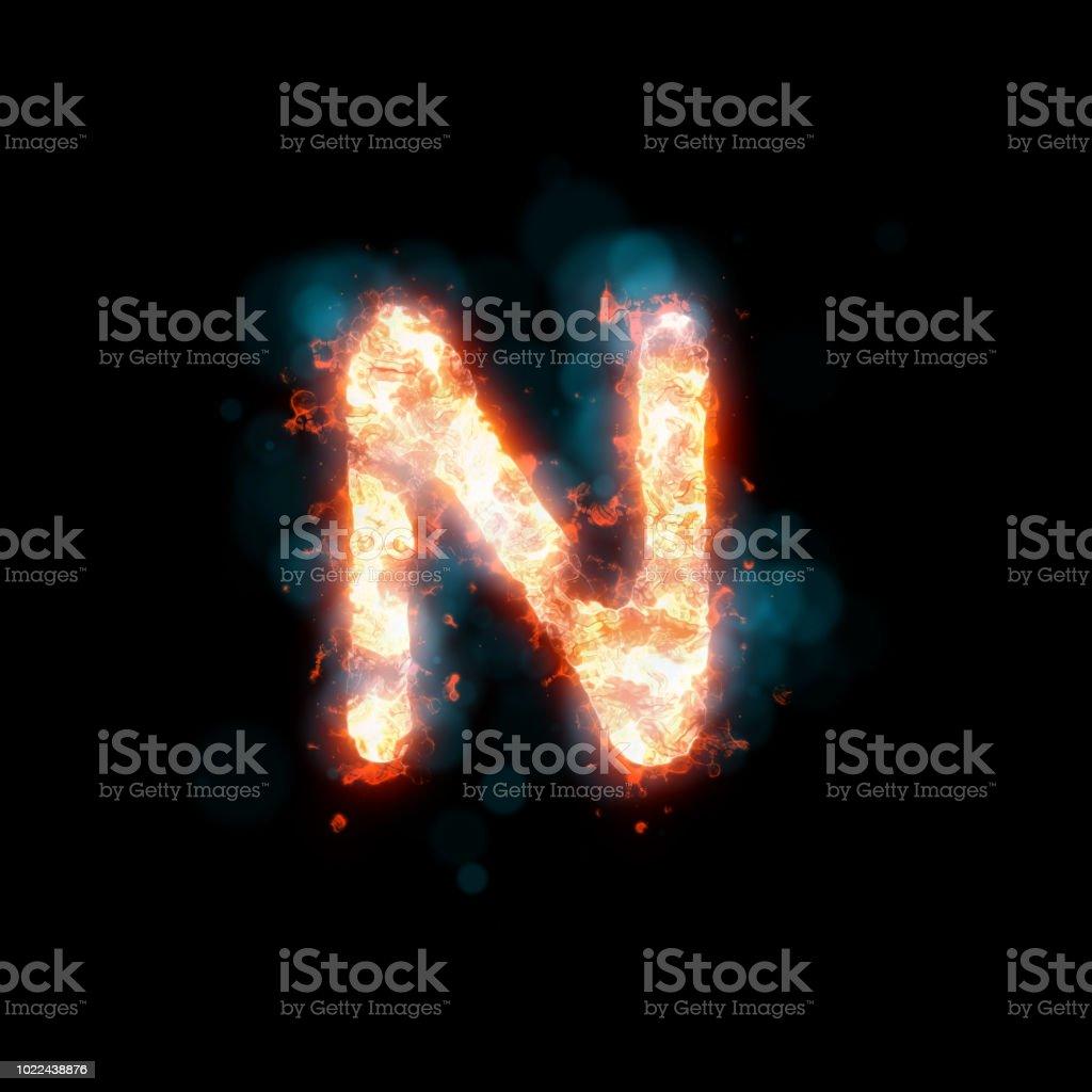 Heißes Plasma Alphabet (Halloween-Konzept) – Foto