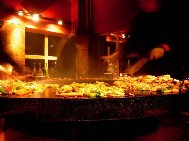 Hot Plate Food being prepared Mongolian style mongolian culture stock pictures, royalty-free photos & images