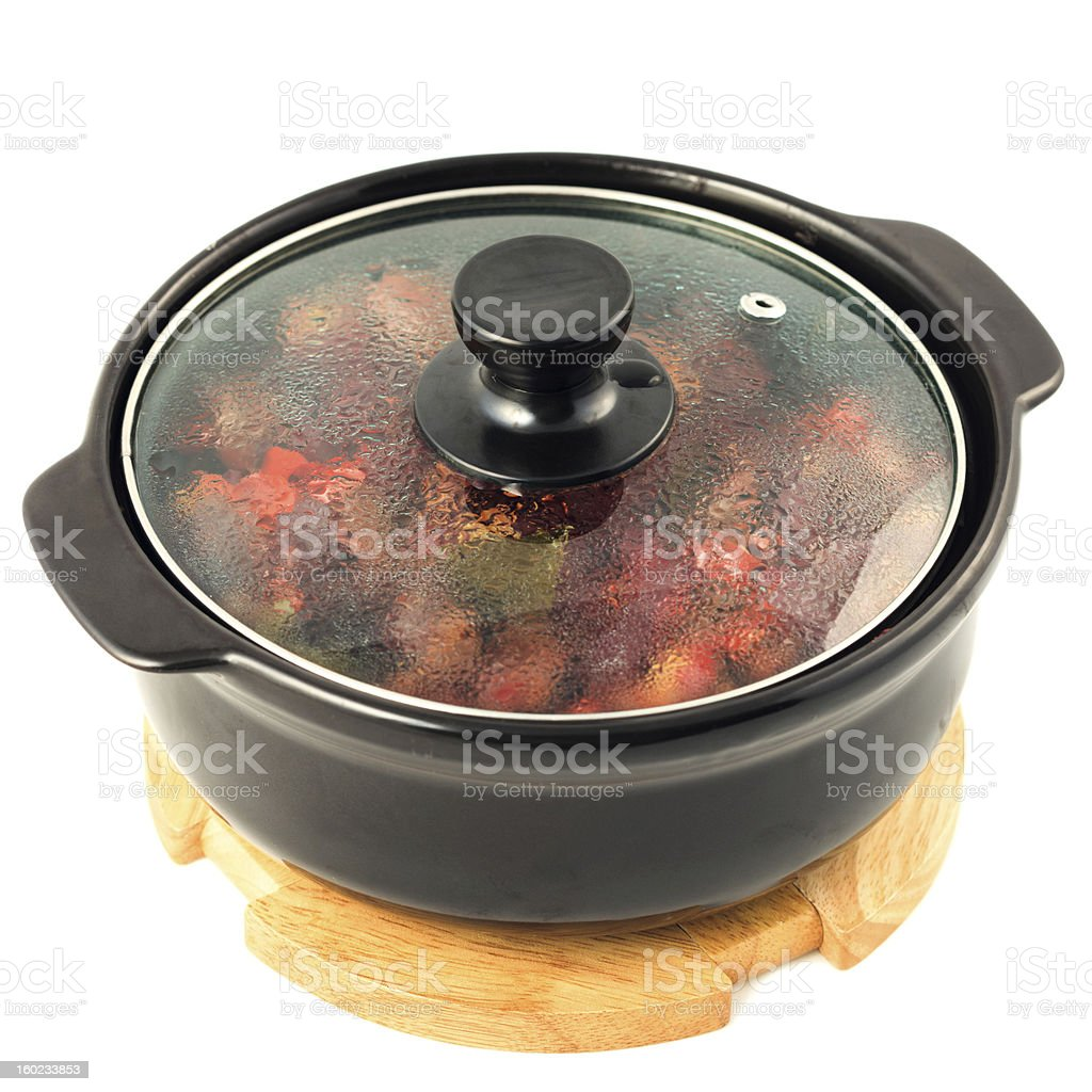 Hot pot royalty-free stock photo