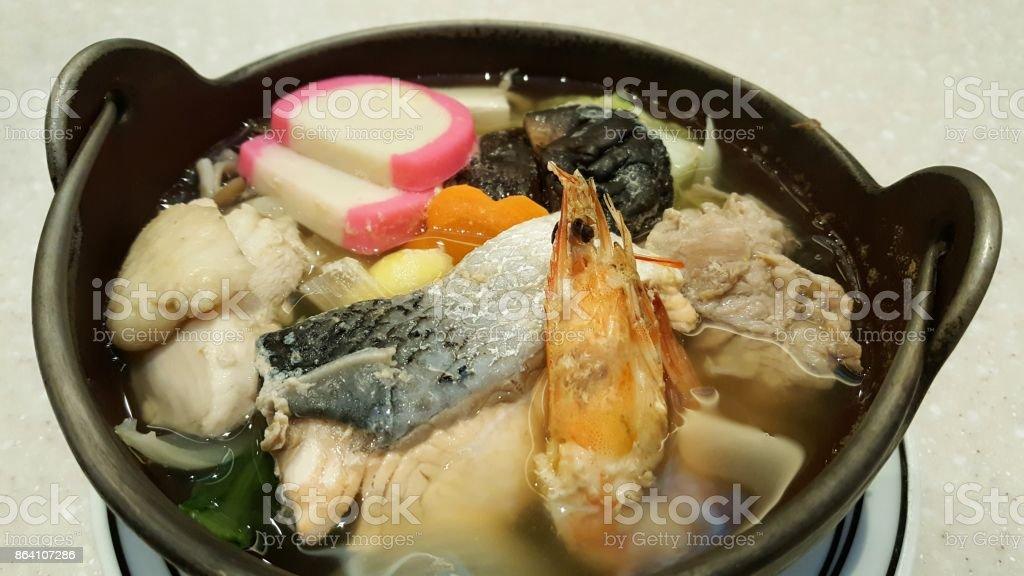 Hot pot soup royalty-free stock photo