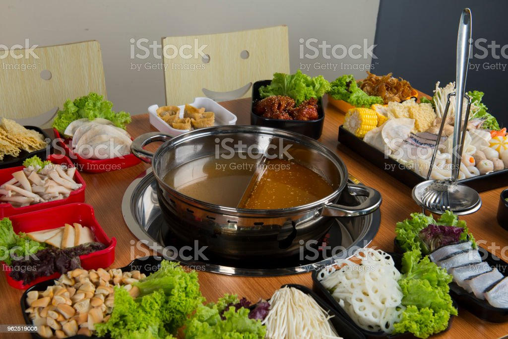 hot pot with double flavour - Royalty-free Asia Stock Photo