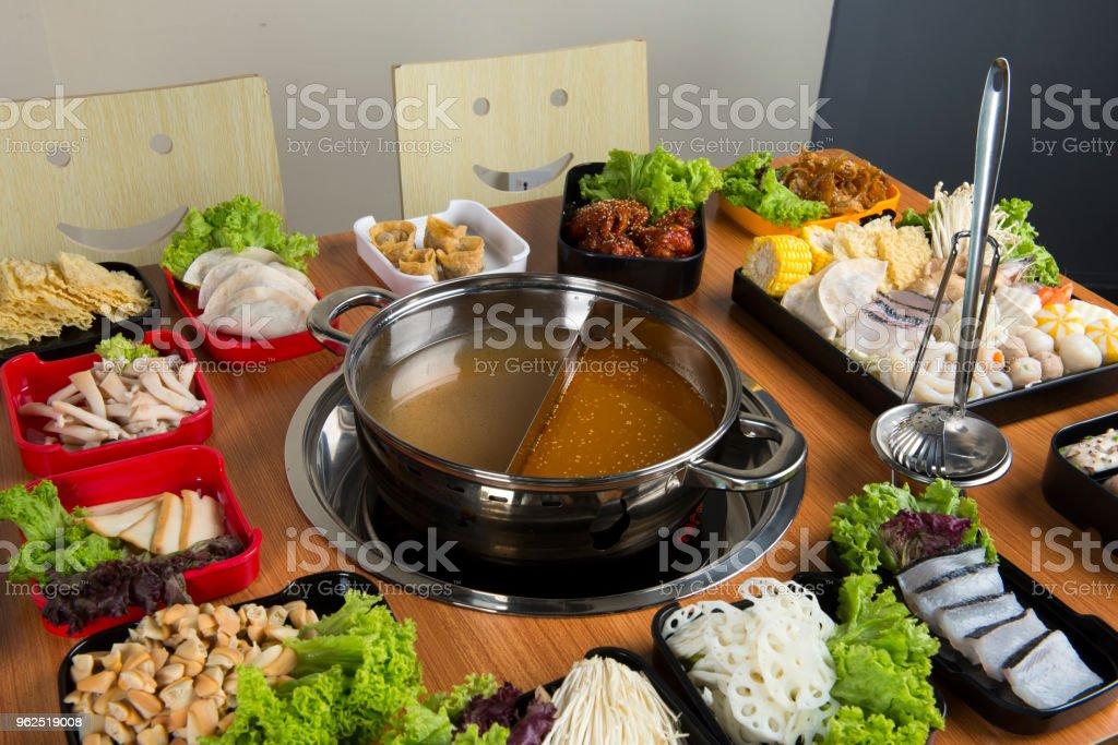 panela quente com duplo sabor - Foto de stock de Banquete royalty-free