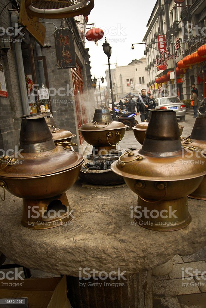 Hot Pots in Beijing China stock photo