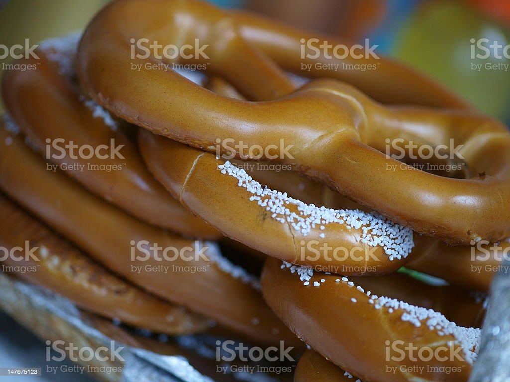 Hot Pretzels in NYC royalty-free stock photo