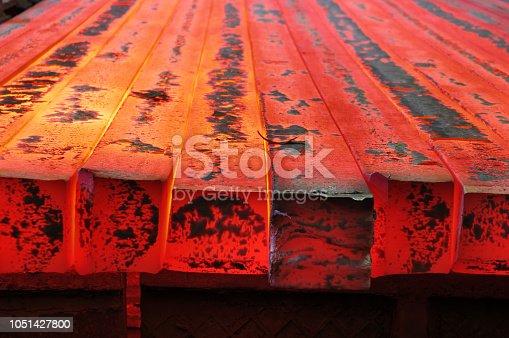 hot red solid metal blank molten billet