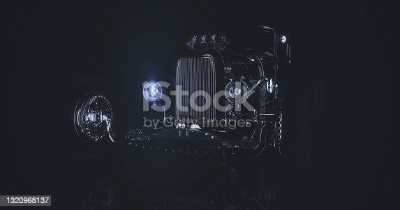 istock Hot Rod 3D render 1320968137