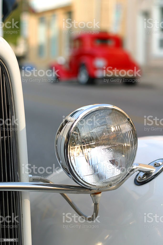 Hot Rod Headlamp royalty-free stock photo