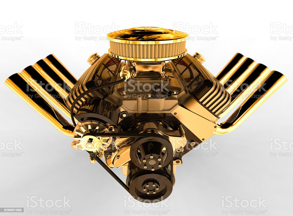 Hot Rod V8 Motor 3d übertragen Stock-Fotografie und mehr Bilder von ...