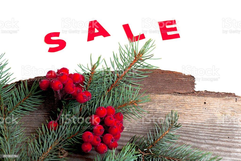 hot Sale and pine branches Lizenzfreies stock-foto