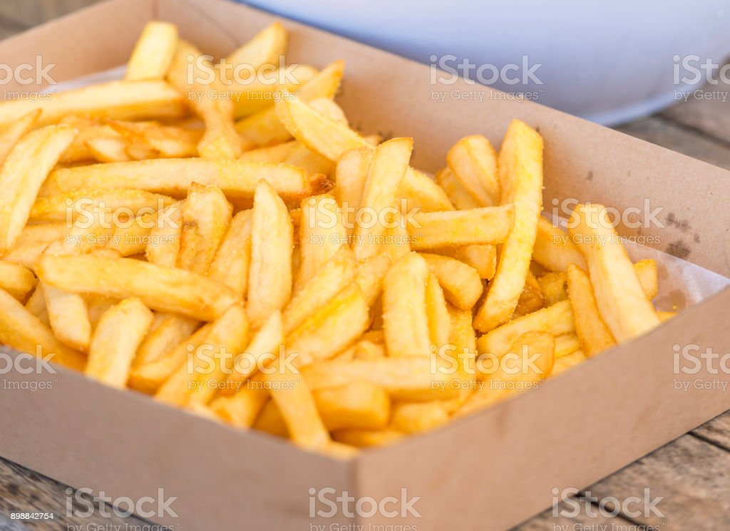 Hot Salty Chips stock photo