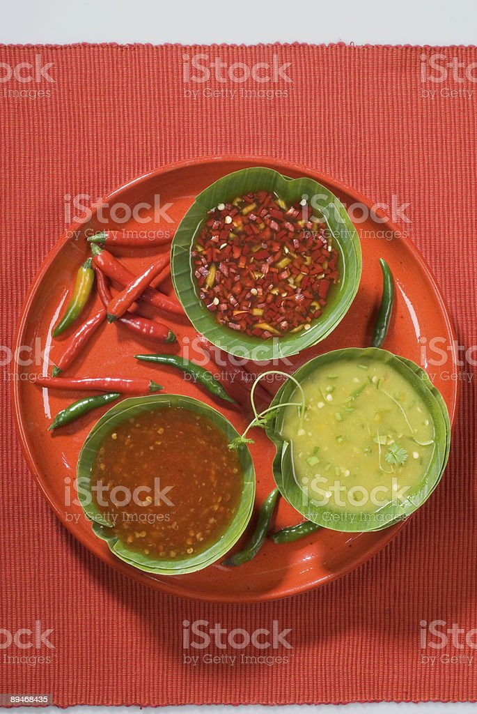 Hot sauces royalty-free stock photo