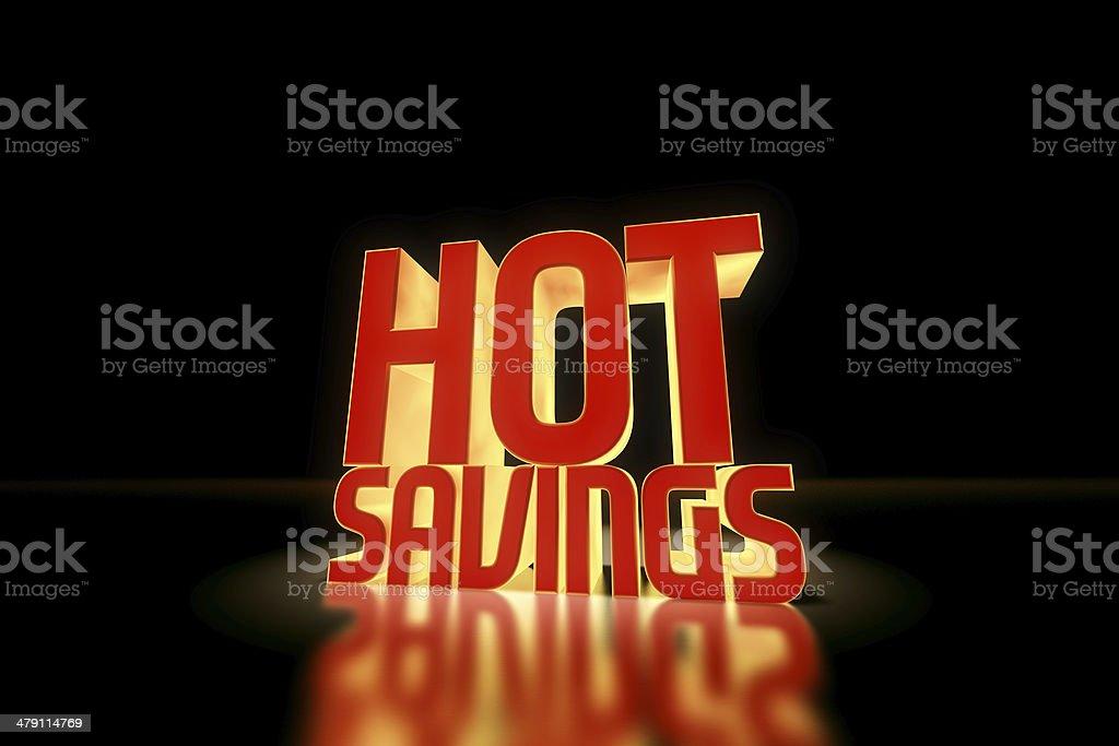 Hot Savings royalty-free stock photo