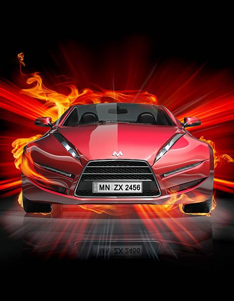 Hot sports car stock photo
