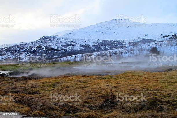 Hot spring and steam