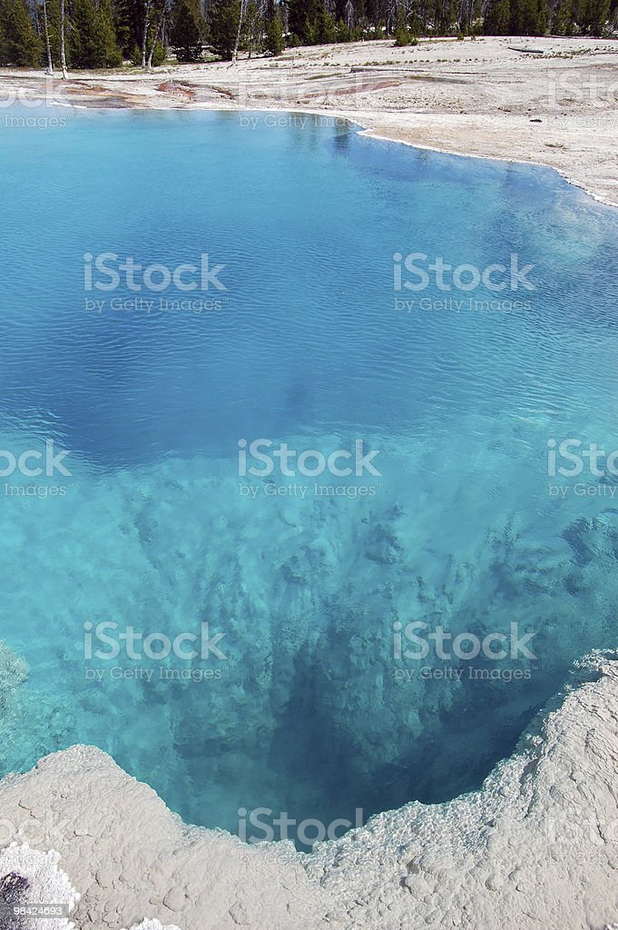 Hot Spring at Yellowstone National Park royalty-free stock photo