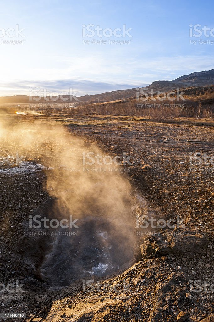 Hot Spring by Geysir royalty-free stock photo