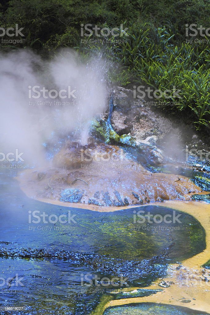 Hot spring crater royalty-free stock photo