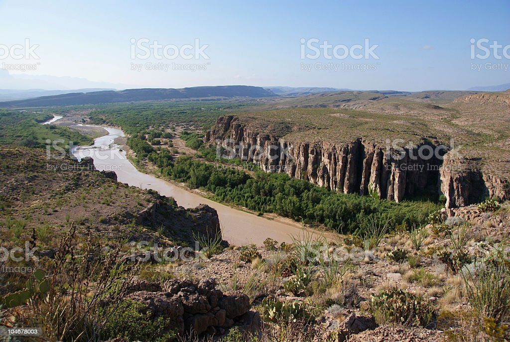 Hot Springs Canyon  (US - Mexico border) stock photo