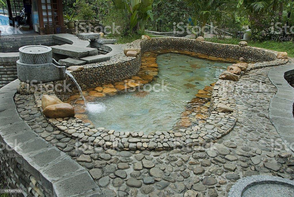 Hot springs, China's hainan island stock photo