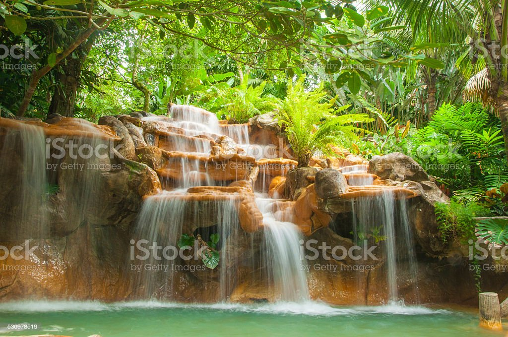 Hot springs in Costa Rica stock photo