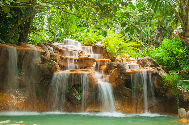 Hot springs in Costa Rica Hot springs in Costa Rica arenal volcano stock pictures, royalty-free photos & images