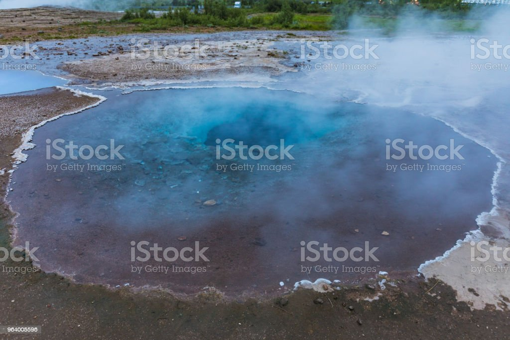 hot steaming spots in the geysir area - Royalty-free Awe Stock Photo