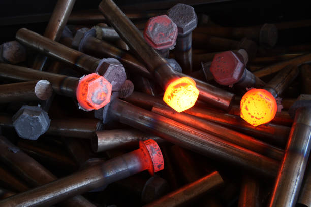 hot steel - metallurgy stock photos and pictures