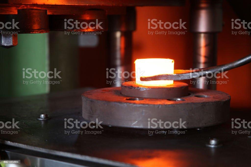 Hot Steel stock photo