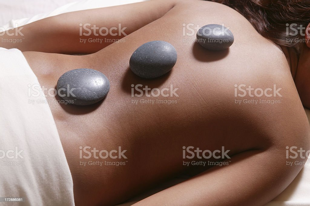hot stone treatment royalty-free stock photo