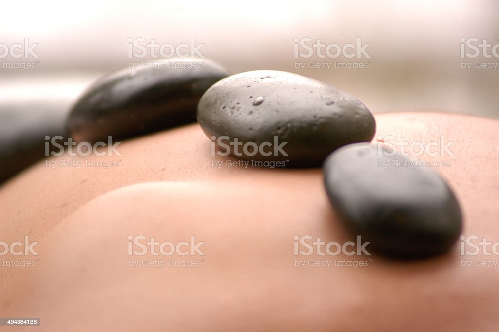 Hot stones stock photo