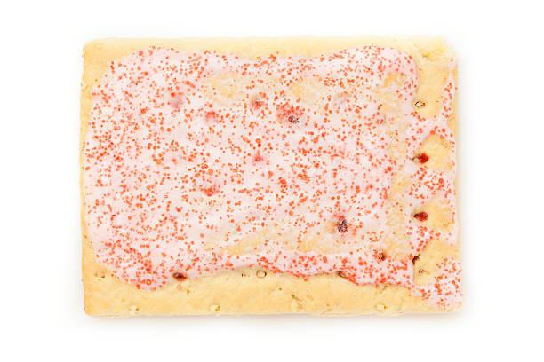 hot strawberry toaster pastry - deeggerechten stockfoto's en -beelden